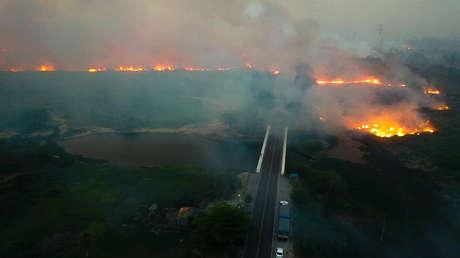 Incendios en el Pantanal, estado de Mato Grosso do Sul, Brasil. 29 de octubre de 2019.