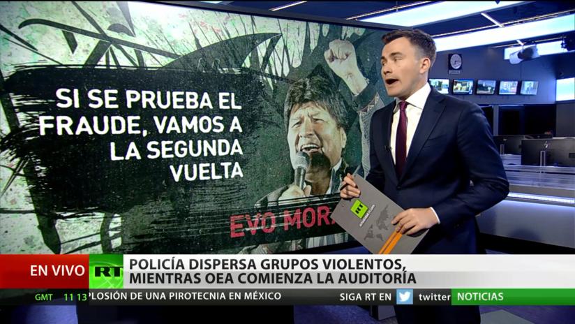 Bolivia: Policía dispersa grupos violentos, mientras OEA comienza la auditoría