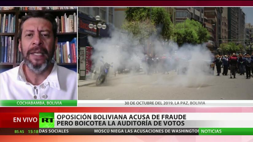 """Experto: Lo que ocurre en Bolivia sigue """"el guión"""" del llamado """"golpe blando"""""""