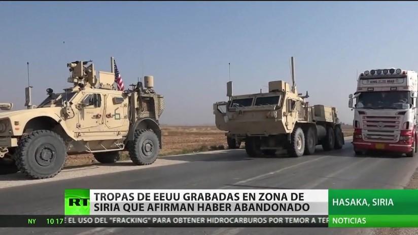 RT graba a las tropas de EE.UU. en el noreste de Siria