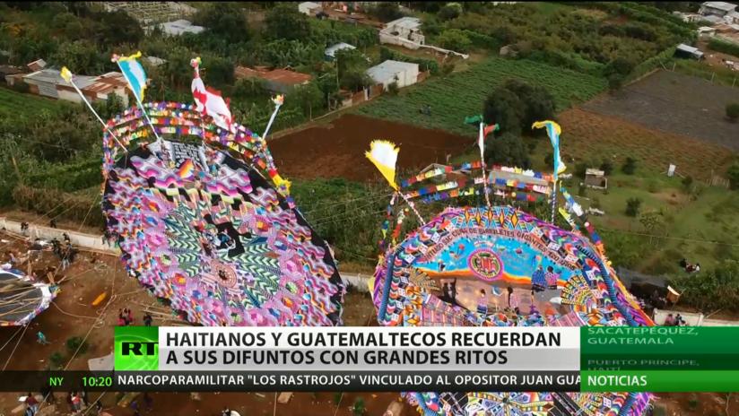 Haitianos y guatemaltecos recuerdan a sus difuntos con grandes ritos