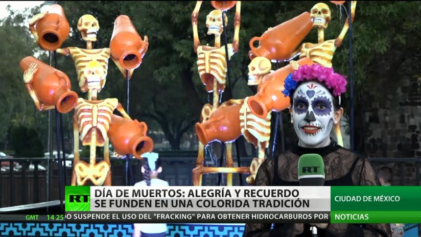 Día de los Muertos: Alegría y recuerdos se funden en una colorida tradición en México