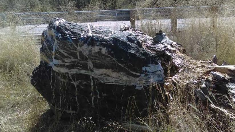 FOTO: Una roca de una tonelada desaparece de un parque nacional de EE.UU. y 'regresa' días después, sorprendiendo a las autoridades