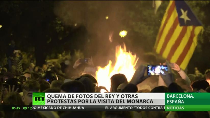 Jornada de protestas en Barcelona por la visita del rey Felipe VI