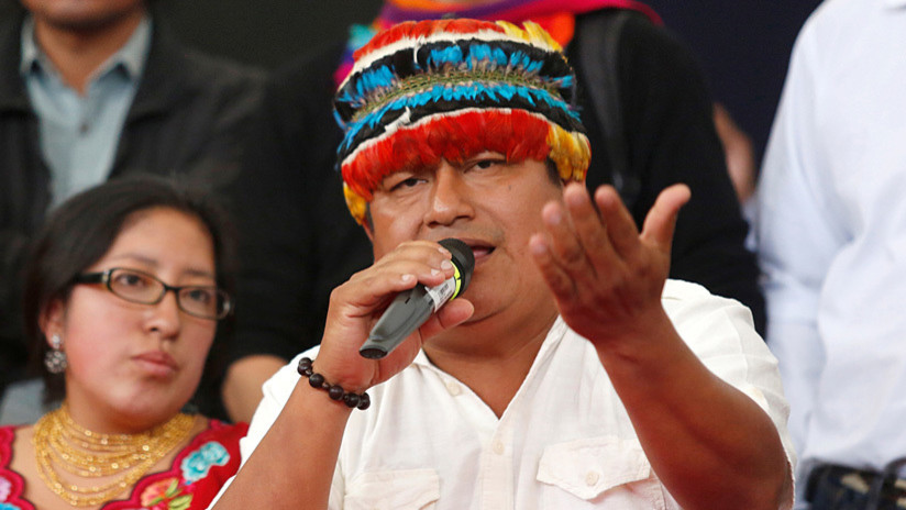 Fiscalía de Ecuador admite cinco denuncias contra el líder del movimiento indígena Jaime Vargas