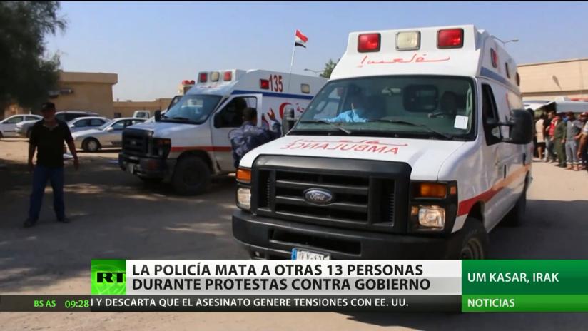 Al menos 13 civiles mueren en Irak a manos de las fuerzas de seguridad durante protestas