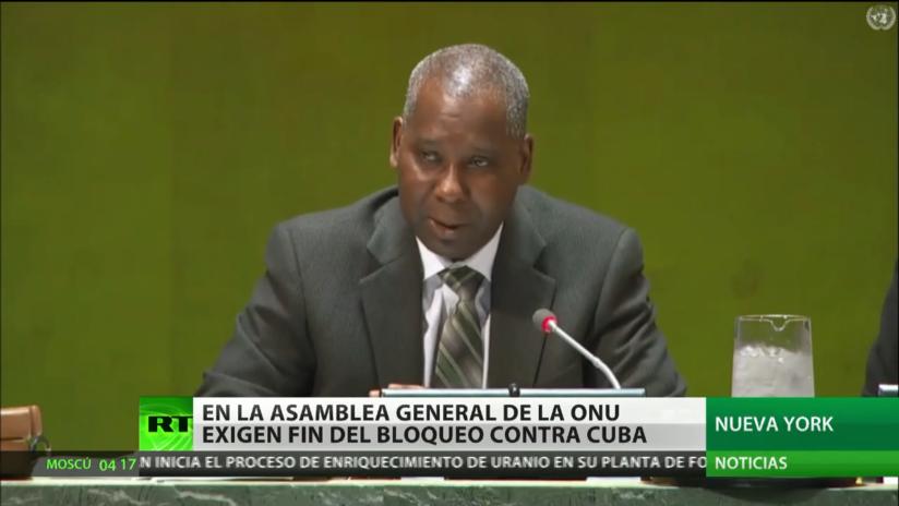 Exigen el fin del bloqueo de EE.UU. contra Cuba en la Asamblea General de la ONU
