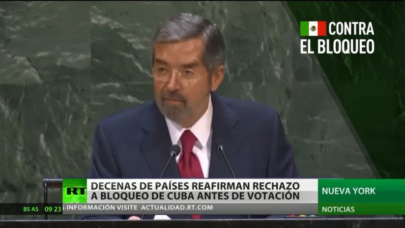 Decenas de países reafirman su rechazo al bloqueo de Cuba antes de la votación en la ONU