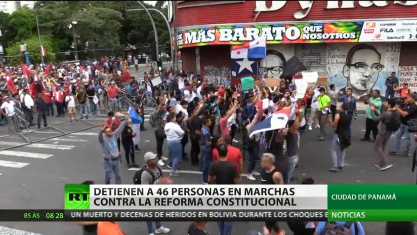 Nueva jornada de protestas contra la reforma constitucional en Panamá