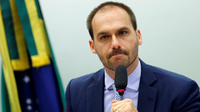 El hijo de Bolsonaro apoya una moción de repudio a Alberto Fernández en el Congreso de Brasil