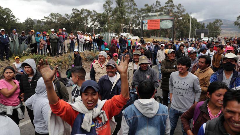 """Indígenas de Ecuador rechazan versión del Gobierno que tilda de """"intento de golpe de Estado"""" las protestas de octubre"""