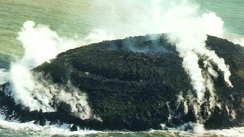 FOTO: Erupción de un volcán crea una nueva isla en el archipiélago de Tonga