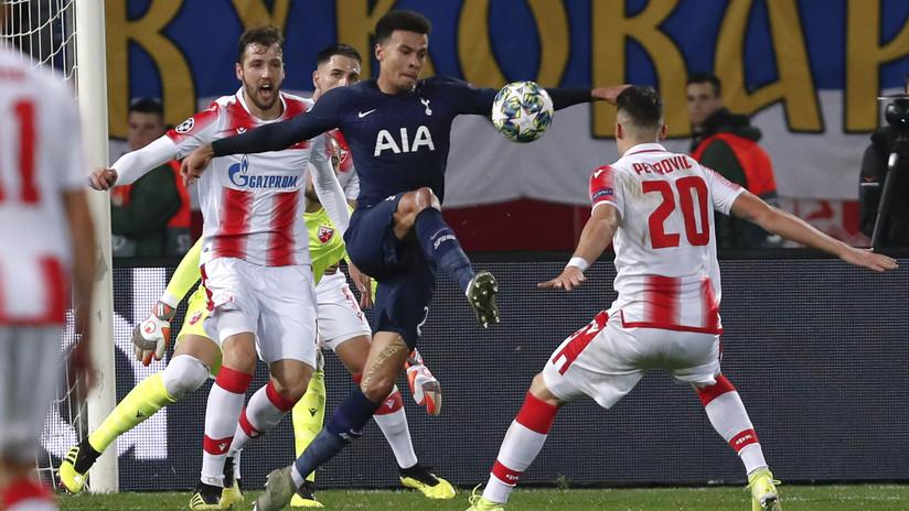 VIDEO: La dramática jugada que hizo sufrir a los aficionados de los dos equipos en un partido de la Champions