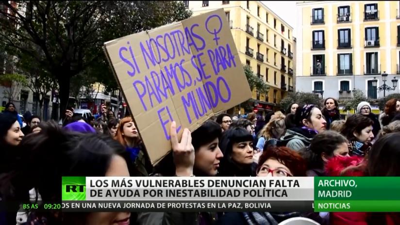 Los más vulnerables denuncian falta de ayuda por la inestabilidad política en España