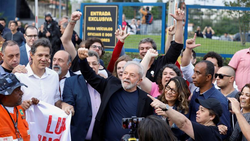 Lula da Silva es recibido por familiares y simpatizantes tras salir de prisión