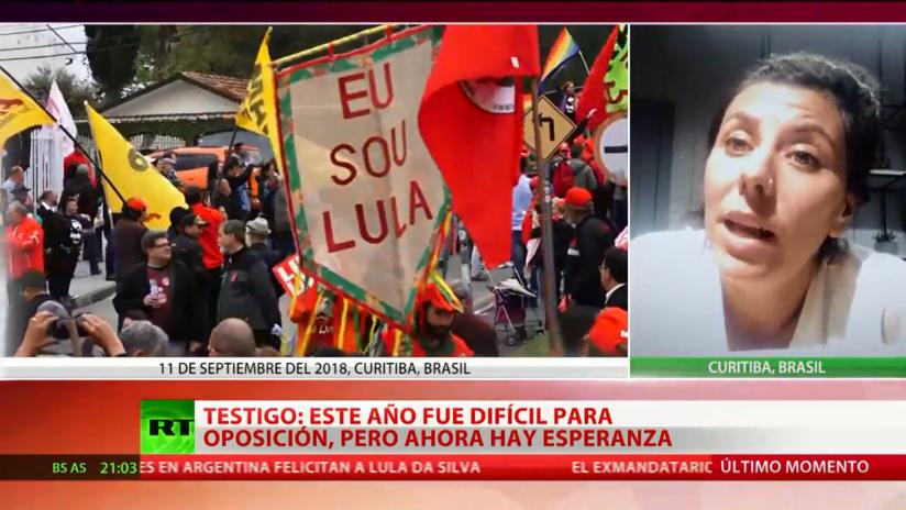 """Testigo: """"La salida de Lula da Silva significa mucho porque este año ha sido muy difícil para la oposición"""""""