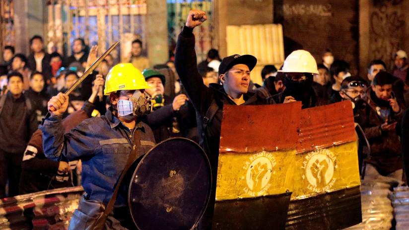 """Ministro de Defensa boliviano cita orden de Morales: """"Bajo ninguna circunstancia habrá acuartelamiento u operación militar en las calles"""""""