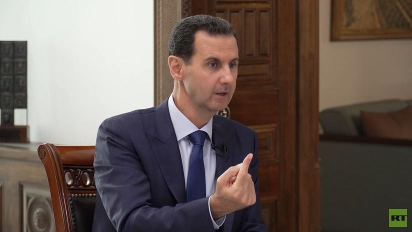 """Assad: """"Lo más peligroso para Europa es el soporte que brinda a los terroristas en Siria, no el flujo de refugiados"""""""
