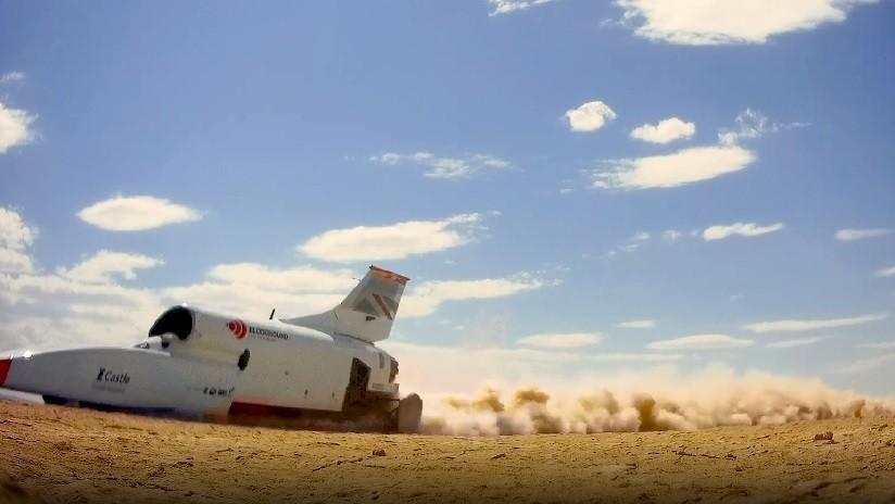 VIDEO: Coche supersónico alcanza más de 800 km/h y ahora busca batir el récord mundial de velocidad