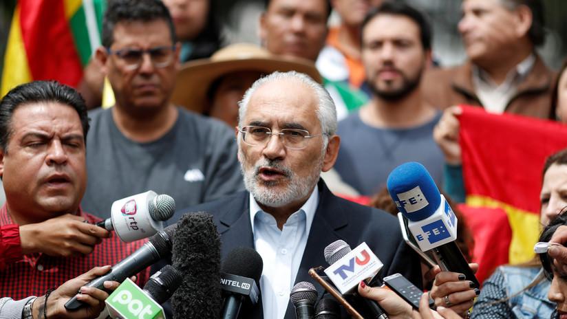 Opositor Carlos Mesa llama a mantener movilizaciones en Bolivia hasta que se acepten nuevas elecciones sin Evo Morales ni Álvaro García Linera