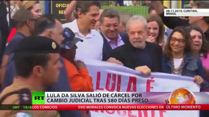 Lula da Silva salió de la cárcel por un fallo judicial después de pasar 580 días tras las rejas