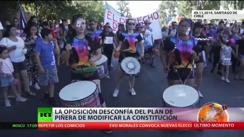 La oposición chilena desconfía del plan de Sebastián Piñera de modificar la Constitución
