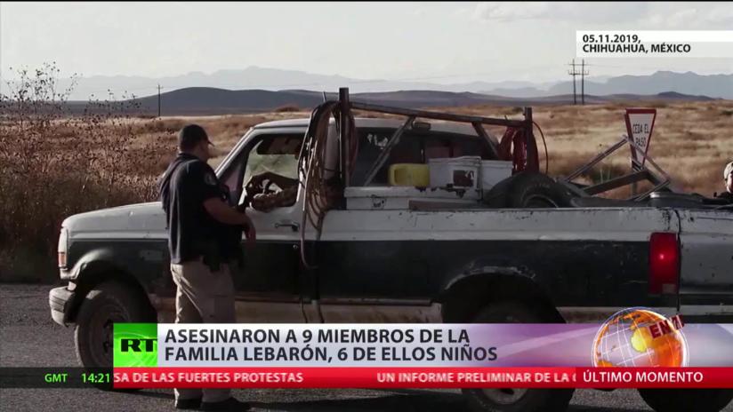Asesinan a 9 miembros de la familia LeBarón, 6 de ellos niños