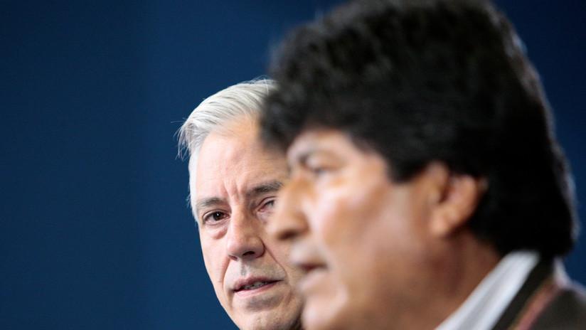 """García Linera tras la renuncia de Evo Morales: """"Le seré siempre leal, estaré siempre a su lado"""""""
