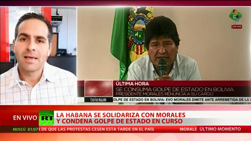 Cuba ratifica su respaldo a Evo Morales
