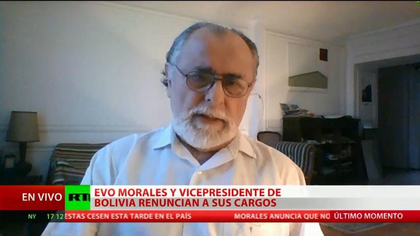 Analista internacional: EE.UU. está detrás del golpe de Estado en Bolivia
