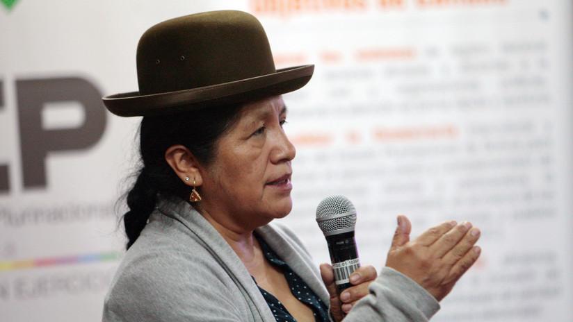 La presidenta del Tribunal Supremo Electoral de Bolivia presenta su renuncia