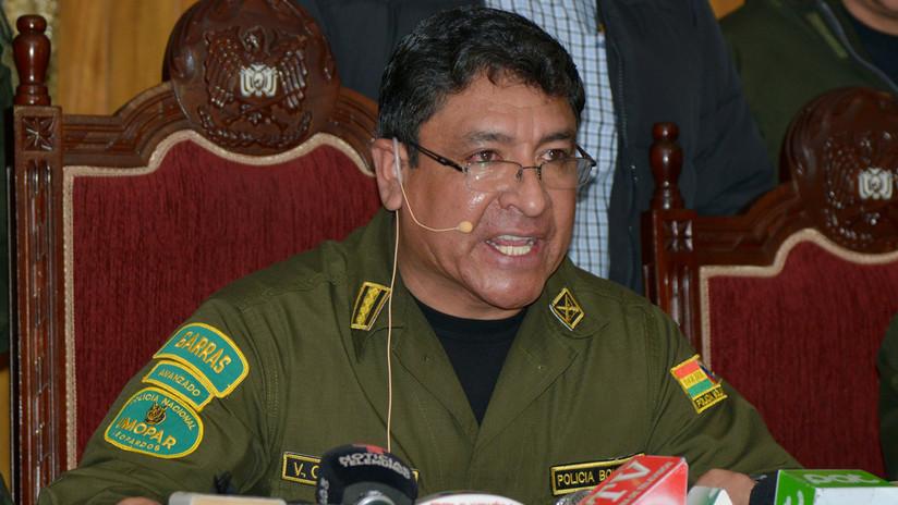 El Comandante General de la Policía de Bolivia presenta su renuncia