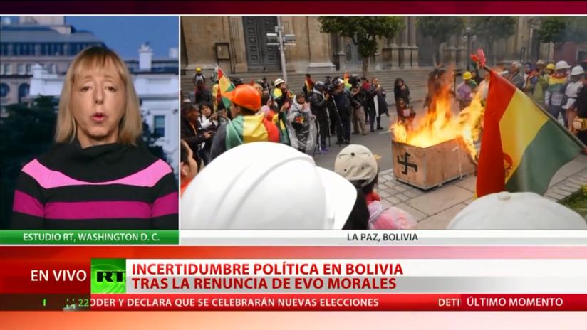 """Experta: La crisis política en Bolivia """"es un golpe de Estado hecho con la ayuda y el apoyo de los EE.UU."""""""