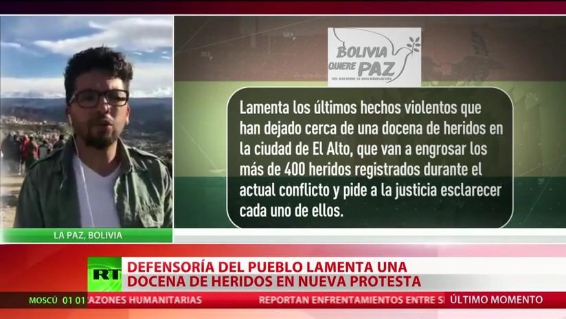 La Defensoría del Pueblo de Bolivia lamenta una docena de heridos en una nueva protesta