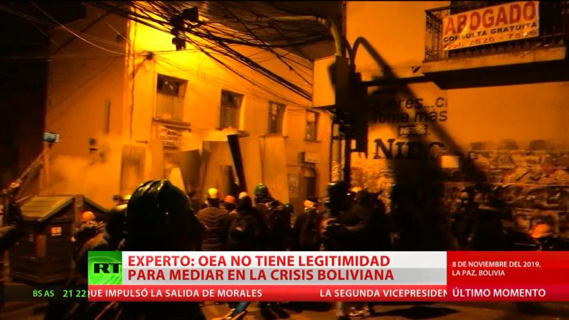 Experto: La OEA no tiene legitimidad para mediar en la crisis boliviana