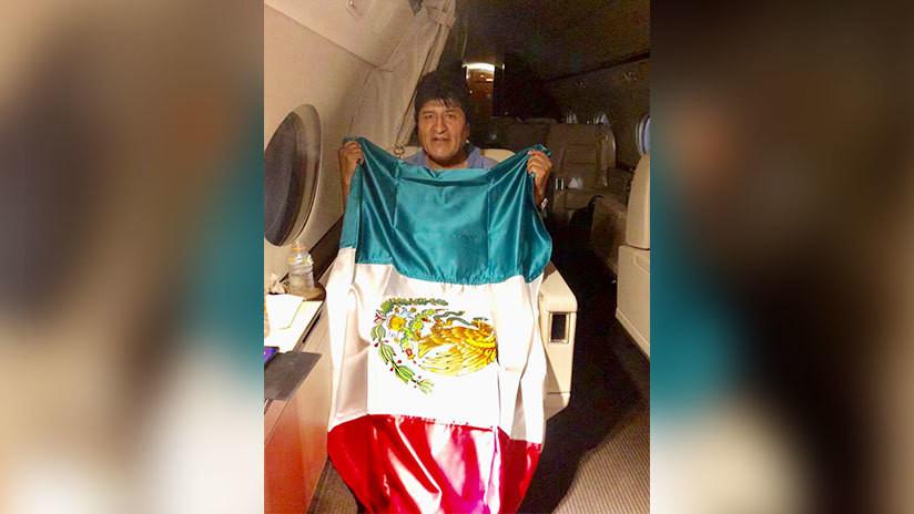El avión con Evo Morales se dirige a México tras una escala en Paraguay