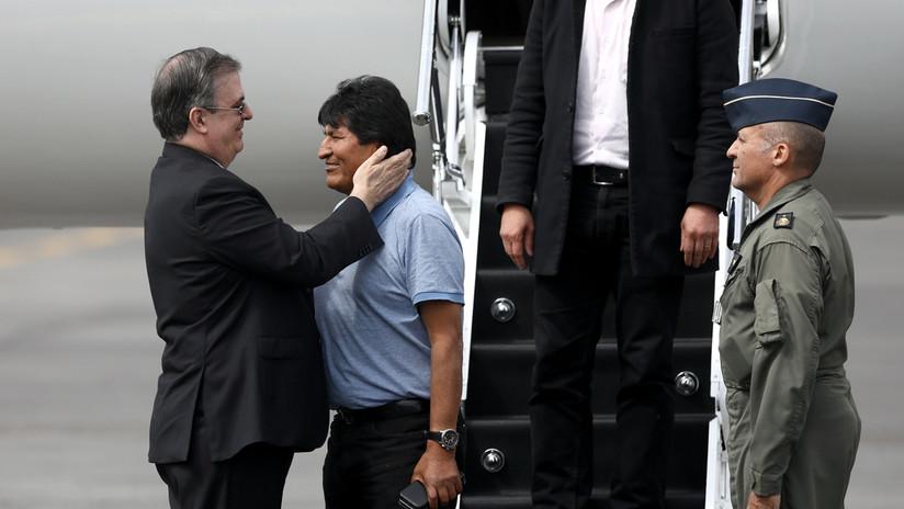 """""""Me salvaron la vida"""": Evo Morales aterriza en México como asilado político (VIDEO)"""