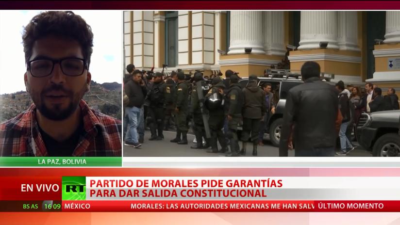 El partido de Evo Morales pide garantías para encontrar una salida constitucional a la crisis política