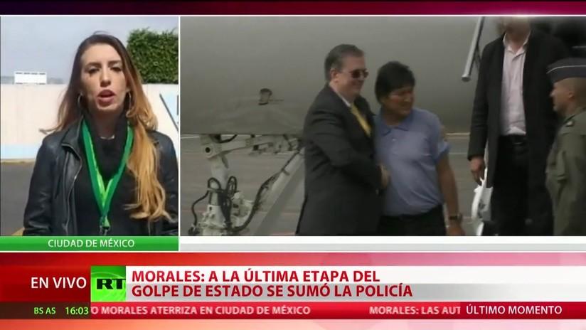 Evo Morales aterriza en México, que le otorgó asilo político