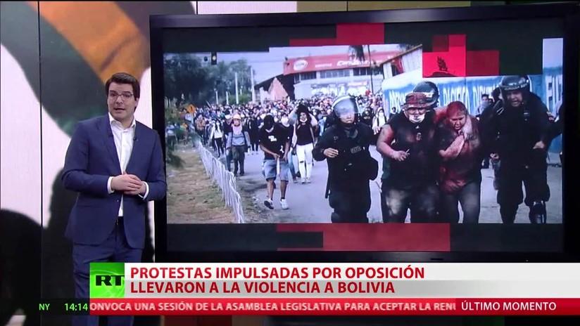 Violencia en Bolivia en medio de las protestas impulsadas por la oposición
