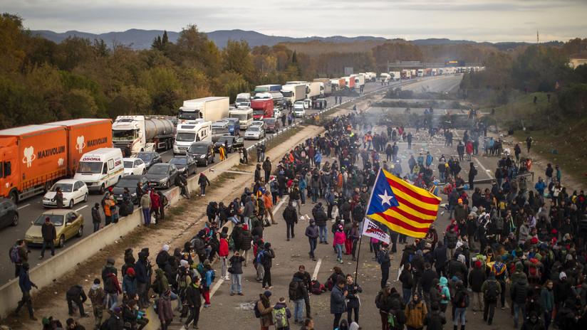 Tsunami Democratic da por finalizadas las protestas en Cataluña tras cortar una importante autopista