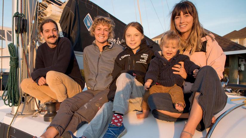 Greta Thunberg regresa a Europa en un catamarán de blogueros australianos