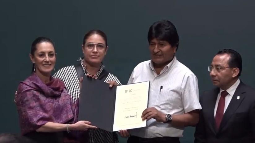 Nombran a Evo Morales huésped distinguido de Ciudad de México