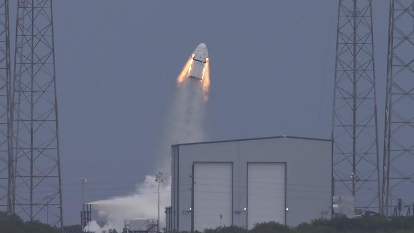 SpaceX prueba con éxito el sistema de emergencia de su nave espacial Crew Dragon (FOTO)