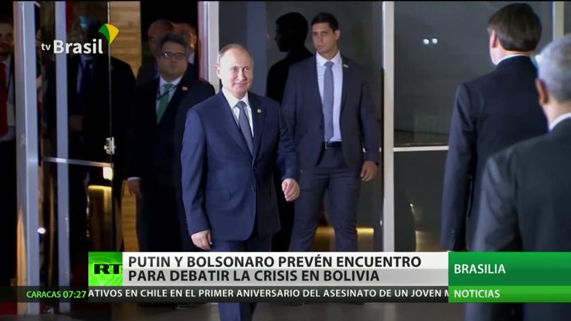 BRICS 2019: Putin y Bolsonaro prevén un encuentro bilateral para debatir la crisis en Bolivia