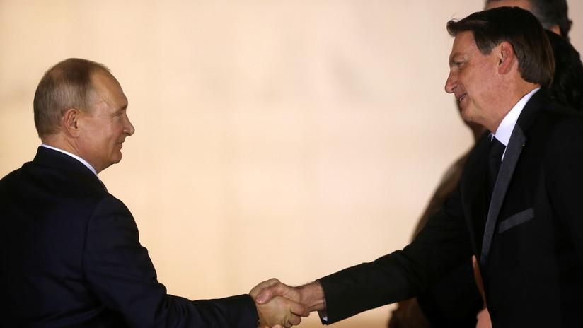 Putin se reúne con Bolsonaro en el marco de la cumbre de los BRICS en Brasilia (VIDEO)