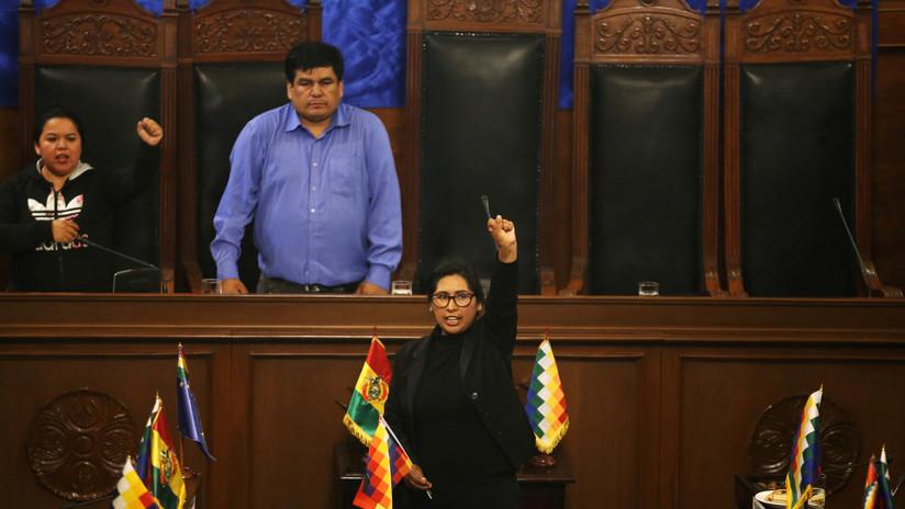 Legisladora del partido de Evo Morales es elegida presidenta del Senado