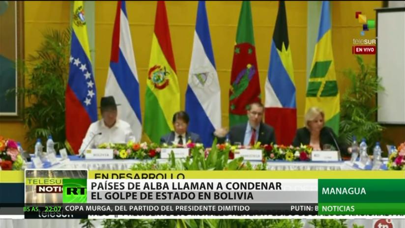 Países de ALBA llaman a condenar el golpe de Estado en Bolivia