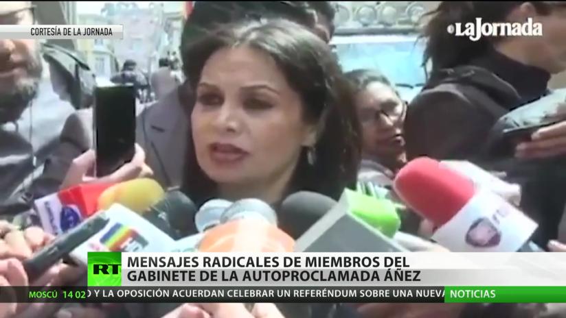 Miembros del Gabinete de la autoproclamada Jeanine Áñez hacen declaraciones radicales