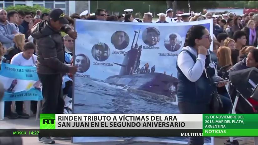 Rinden tributo a víctimas del submarino ARA San Juan en el segundo aniversario del naufragio